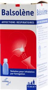 Balsolene, solution pour inhalation par fumigation